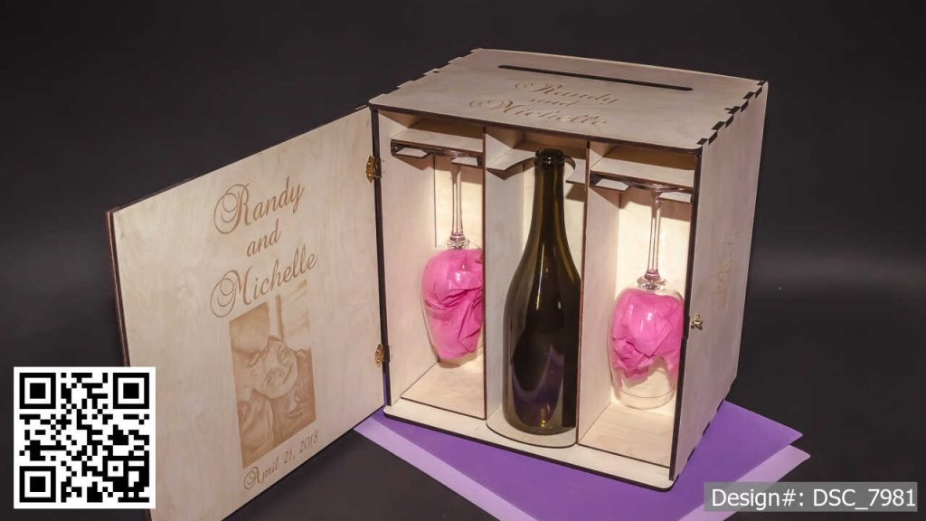Deluxe Display CARD BOX for cards, wedding wine and stemware